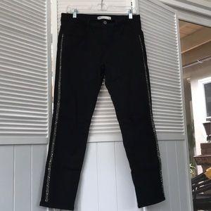 Zara Black Striped Jeans